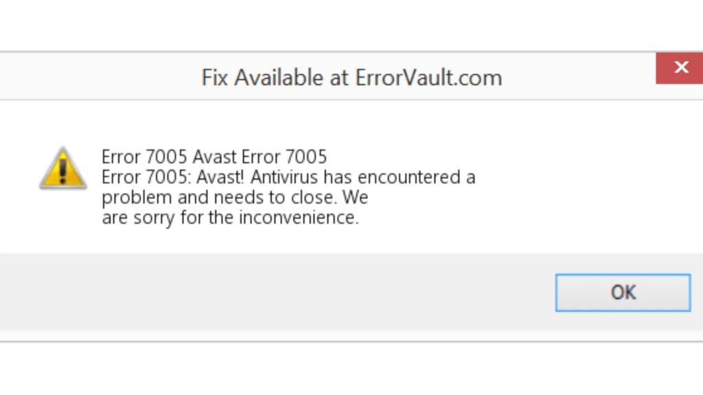 error 7005